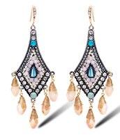 TIANSHE haute qualité Autrichien cristal rétro vintage boucles d'oreilles bohême bijoux gland de baisse boucles d'oreilles pour les femmes, 004