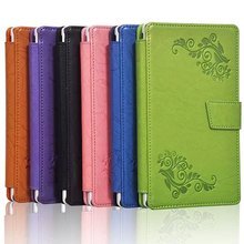 Floral impreso leather case smart cover para lenovo tab 2 tab2 a7-30hc a7-30 a7-30tc 30tc a7 tablet tirón de la cubierta case