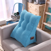 Triangular Large Cushion Pillow Waist Back Big Sofa Bed Comfortable Backrest Cojines Decorativos Para 6KD09