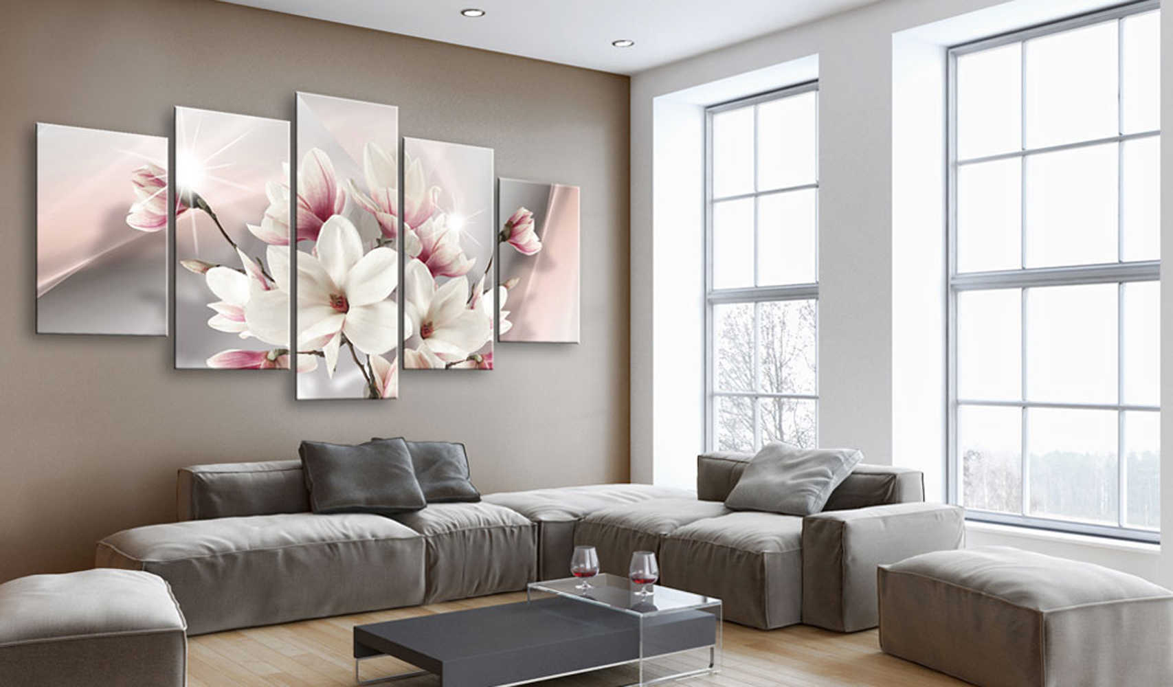 5 Pieces Printed Beautiful flower Canvas Oil Painting Decoration Wall Picture In Living Room Modern Canvas Art PJMT-B-318