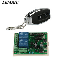AC 110V 220V 2CH Relay Receiver Remote Control Switch 433 MHz Learning Code ASK Smart Home