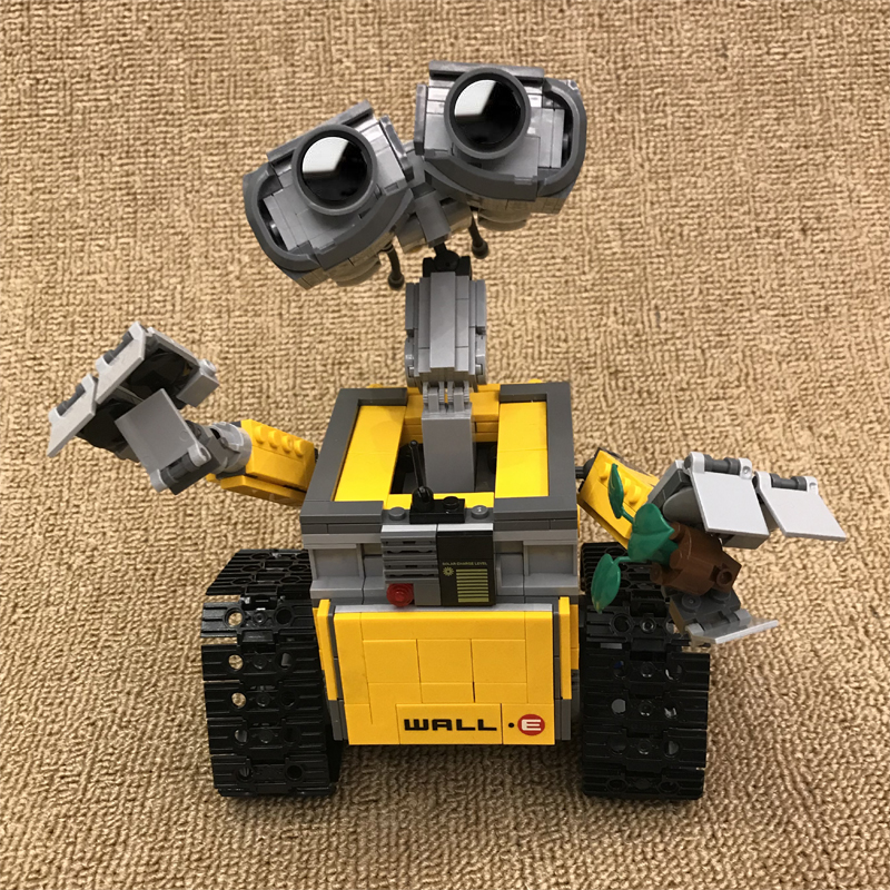 16003 687 Pcs Wall E Building Bricks Idea Robot WALL-E Model Building Kits Blocks Toys for Children Gift Compatible Legoe 21303 2017new lepin16003 idea robot wall e building set kitstoys e kits blocks single sale brickstoystoys for childrenbirthdaygifts