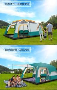 Image 3 - גמל Ultralarge 6 10 12 שכבה כפולה חיצוני 2 סלון חדרי 1 אולם משפחת קמפינג אוהל למעלה איכות חלל גדול אוהל