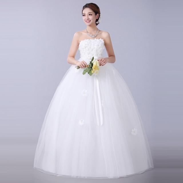 Cheap wedding dress under 100$ new 2016 slit neckline bridal wedding ...