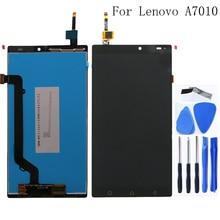 100% testado para Lenovo K4 Nota componente A7010 novo monitor LCD tela de toque digitador reparação peças de reposição de 5.5 polegadas
