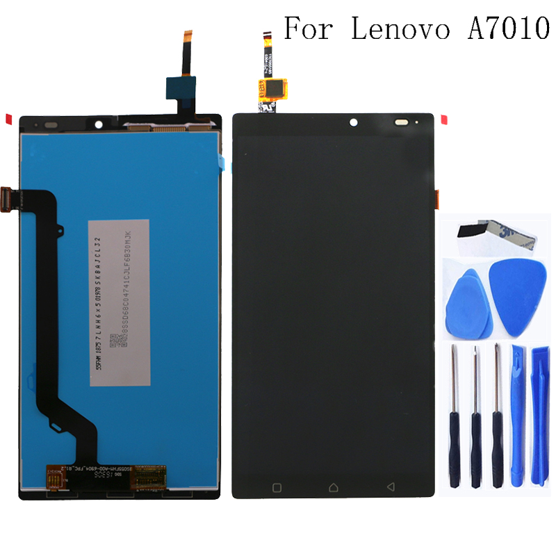 100% tested for Lenovo K4 Note A7010 new LCD monitor touch screen digitizer component repair parts replacement 5.5 inches-in Mobile Phone LCD Screens from Cellphones & Telecommunications
