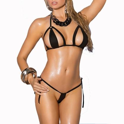 Cutest Micro Bikini 2PCS G-String Mini Bikini Sexy Thong Biquinis Swimsuit Beachwear Multi Color Tiny Bathing Suits
