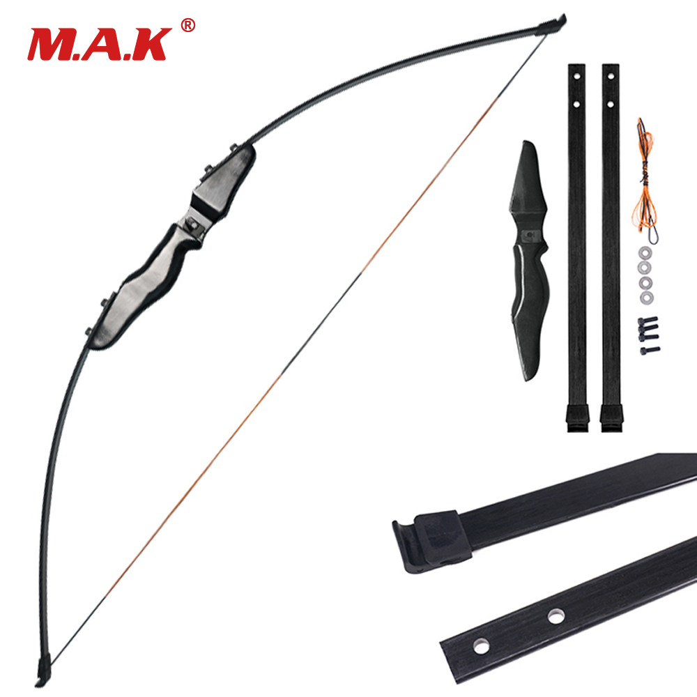 High Quality Straight Bow Split 51 Inches 30 Pounds Fiberglass Limbs Entry Bow for Archery Hunting