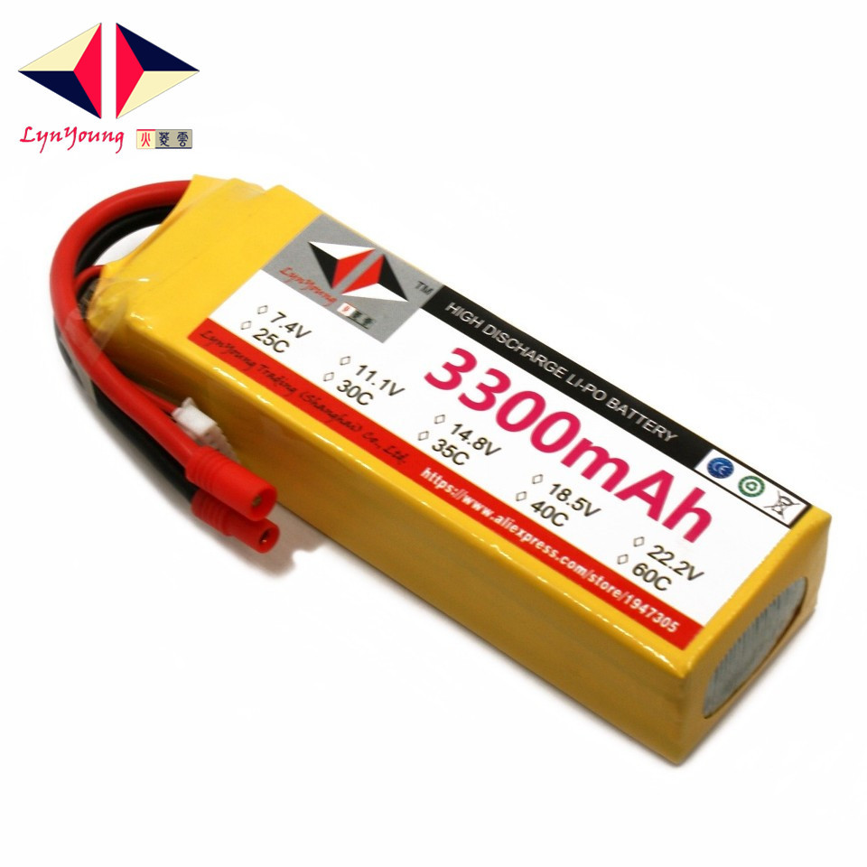 LYNYOUNG 4S lipo battery 3300mAh 14.8V 60C Rechargeable for RC Drone 6 Axis Quadcopter Helicopter Airplane Truck Car lynyoung battery lipo 4s 3000mah 14 8v 35c for rc bike drone boat plane car truck helicopter