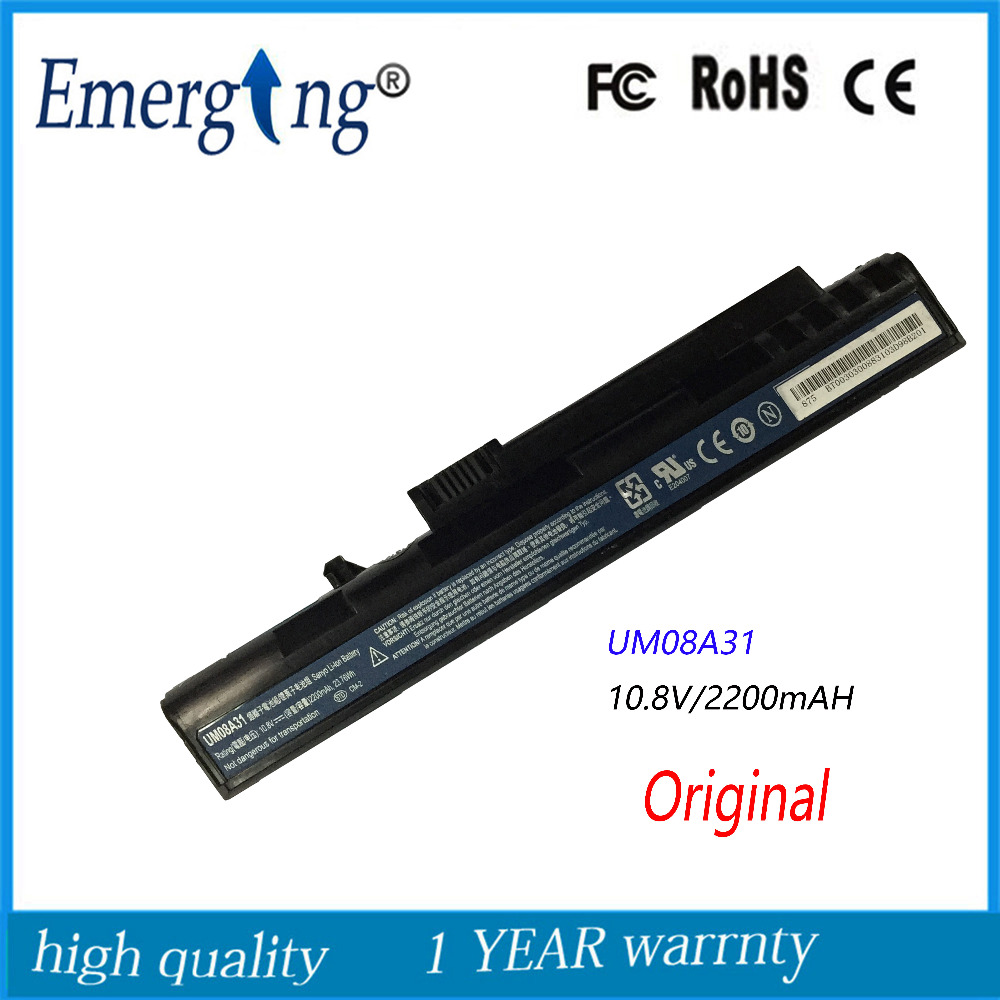 <font><b>10.8v</b></font> <font><b>2200mah</b></font> Original Quality New Laptop <font><b>Battery</b></font> for Acer LT1001J LT2000 UM08A31 UM08A73 image