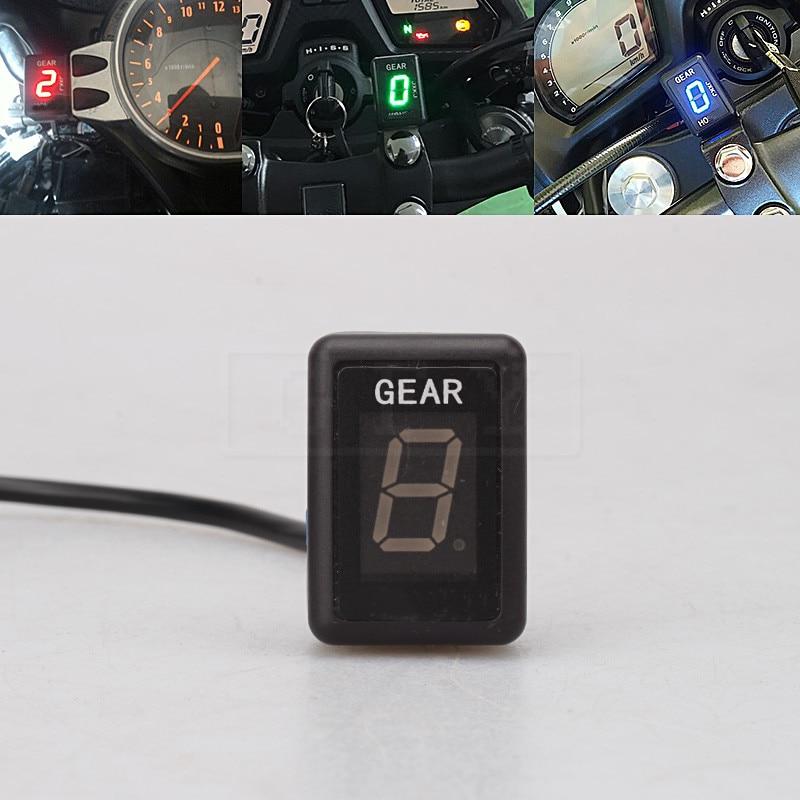 Motorcycle LCD Electronics 1-6 Level Gear Indicator Digital Gear Meter Instrument For Aprilia Pegaso 650 2005 - 2010 RSV4 09-16