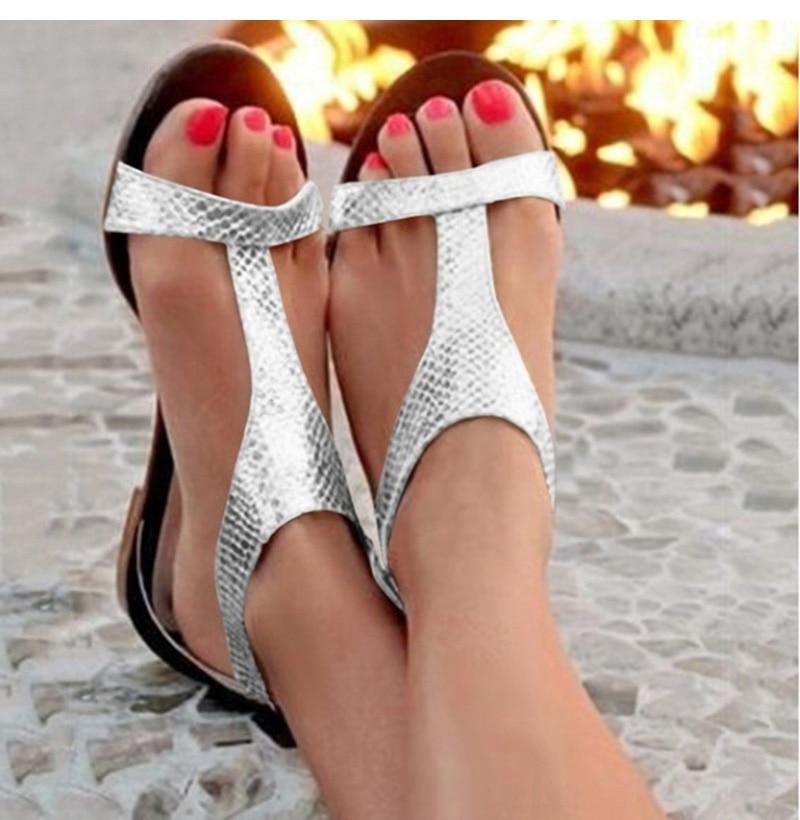 Summer Shoes Woman Sandals 2019 Fashion Open Toe Beach Gladiator Sandals Women Rome Casual Flat Sandals Sapato Feminino