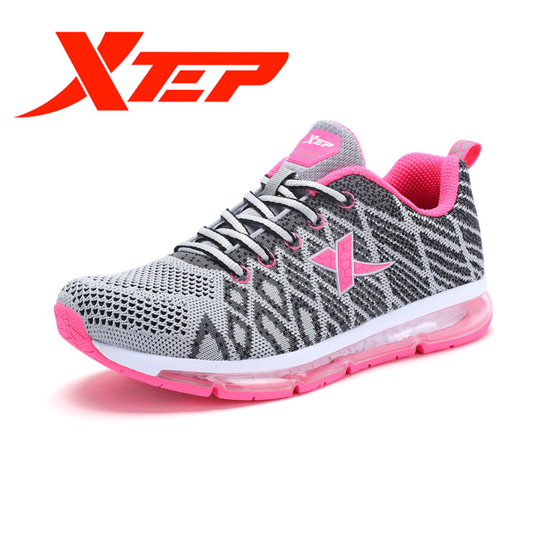 Xtep 2017 new Women Breathable Trail Running Shoes Outdoor Athletic Shoes Women Air Mesh Sneakers free shipping 983218119386 xtep brand breathable running shoes for women light air mesh cushioning professional shoes athletic sport sneakers 983118119066