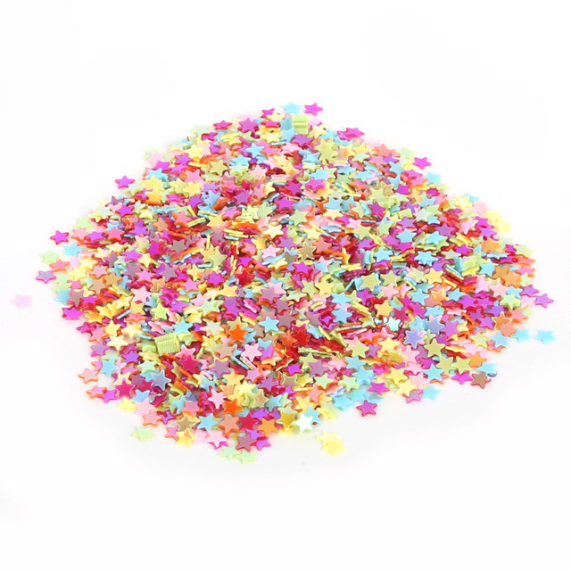 Mixed Color 3mm (13000pcs) Five-Pointed Star Loose Sequin for Clothing Accessories DIY Craft Scrapbooking Wedding Jewelry Making