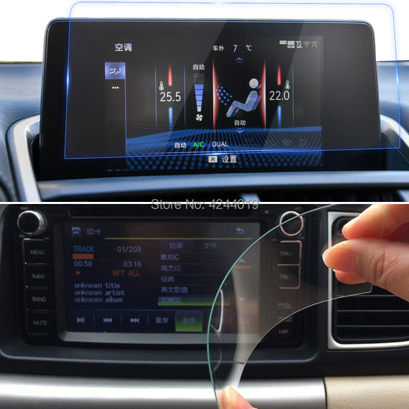 H9 Anti-Fingerprint GPS Navigation Screen Protectors Sticker Car DVD Protective Film Tempered Glass For Lexus NX300h 2017