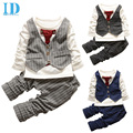 IDGIRL 2016 Children Clothes  Baby Boy Clothes Sets Gentleman Suit Toddler Boys Clothing Set Long Sleeve Kids Clothes Set BD077