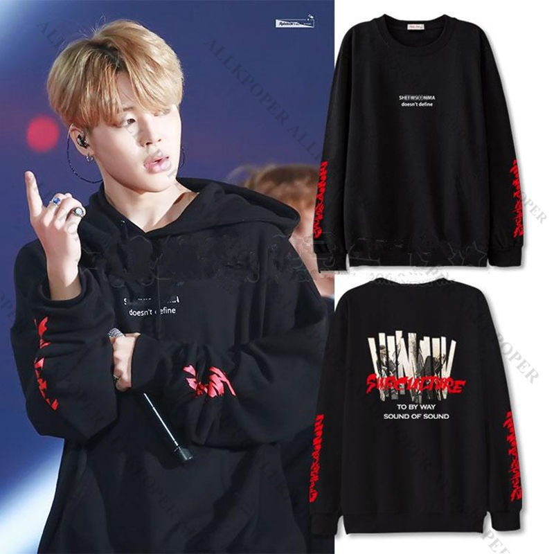 59725361bc1a ALLKPOPER Kpop JIMIN Hoodie Coat Bangtan Boys Pullover Sweatershirt Young  Forever
