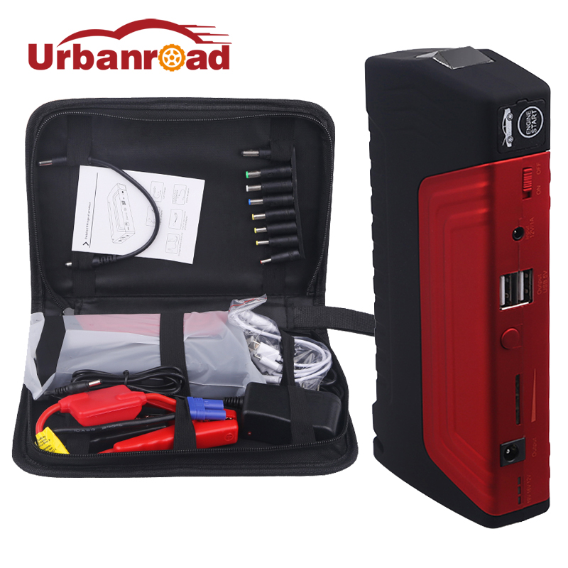 68800mAH 600A Peak Portable Mini Emergency Starting Device Jump Starter 12v For Car Auto Battery Booster Power Bank Car Charger