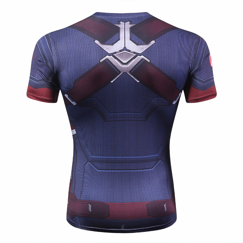 New 2018 Men Tights Skins Compression Base Layer short Sleeve T Shirt Tops tees Bodybuilding Fitness T-shirts