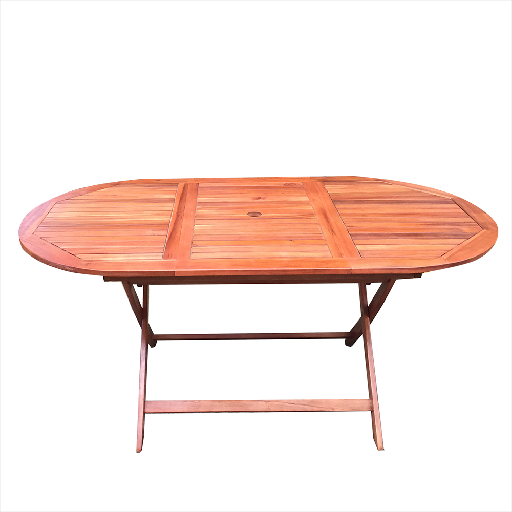 Garden Dining Table Oval Shape Foldable Outdoor Eco Acacia Wood Furniture HOT SALE bp 7 home garden eco logic