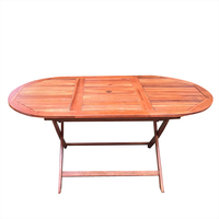 Garden Dining Table Oval Shape Foldable Outdoor Eco Acacia Wood Furniture HOT SALE