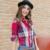 XS-3XL Camisa de Algodão das Mulheres Novas da Primavera 2017 Outono Inverno Moda Clássico Xadrez Escovado da Longo-luva Solto Tops Magras Camisa da menina