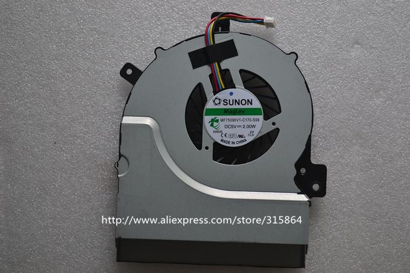 New CPU Fan Cooling Cooler For ASUS K55VD K55V A55 A55V r500v K55VM Series Laptop  MF75090V1-C170-S99 5piece 100
