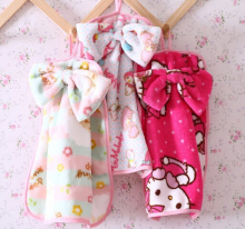 Bamboo Coral Fleece Quality Bowknot Hello Kitty Melody Sheet Soft Kitchen Bath Hand Towel(China)
