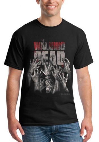 The Walking Dead T Shirt Zombie Hands Daryl Dixon T-Shirt Cotton O-Neck Shirt Unisex Loose Summer Shirt Cosplay Costume