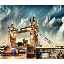 WONZOM Bridge view-Paint by Number Kit for Adults Kids Beginner, DIY Canvas Painting by Numbers,Home Wall Art Picture 40X50cm(China)