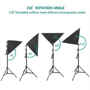 "Image 2 - ZUOCHEN 4 × 25 ワット Led 連続照明キット 20 ""× 28""/50 × 70 センチメートルソフトボックスソフトボックス写真スタジオセット電球ランプ写真ソフトボックス"
