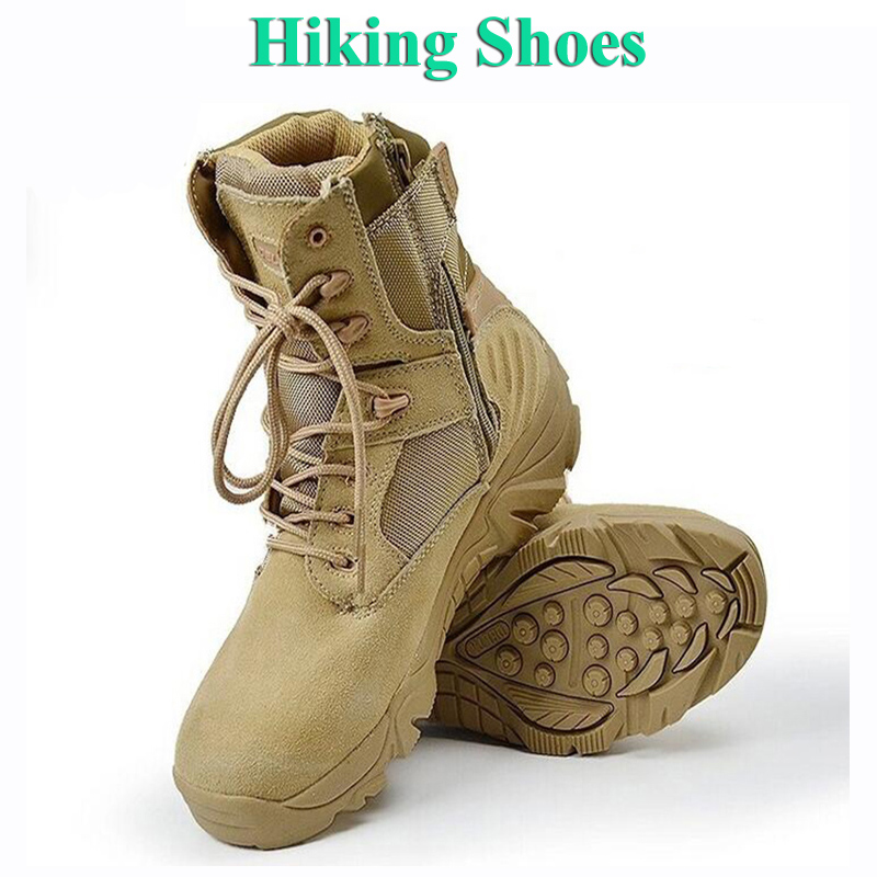 Military Tactical Combat Men Leather Sneakers Hiking Shoes Mountain Climbing Boots Outdoor Sport Trekking Shoes Camping Botas mulinsen winter2017 tactical boots hiking shoes for men climbing mountain sport shoes man brand ankle boots men s sneakers