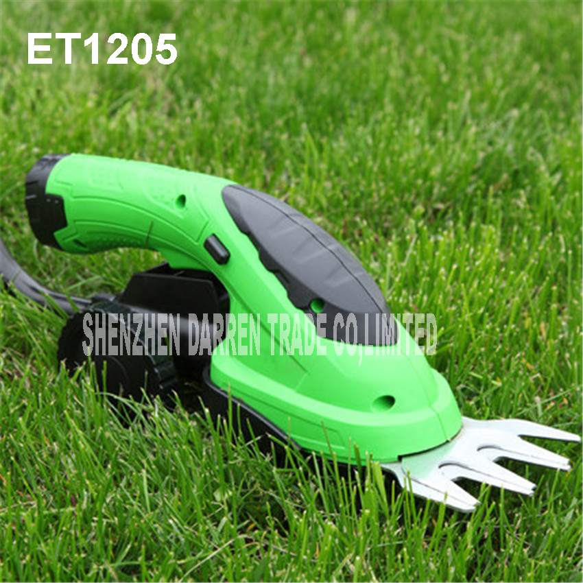ET1205 power tools combo 3.6V rechargeable li-ion cordless lawn trimmer mower garden tools 2in1 Pruning blade length 110mm 1pcs nylon line brush cutter head garden lawn mower bump grass brush trimmer head garden repalcement tools black