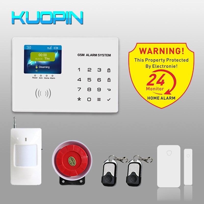 2.8 polegada Display Colorido Painel de Teclado de Toque Fácil de Operar da Segurança Home Auto-Dial/SMS Anti-roubo Sem Fio kit Sistema De Alarme GSM