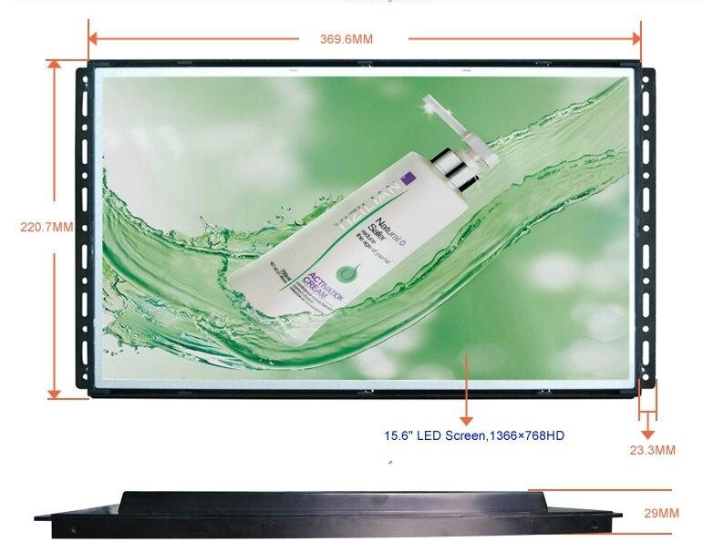Moniteur 19 pouces publicité médias hd lcd publicité lecteur 1080 P 19 pouces LCD Modules