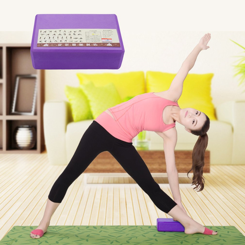 PIERYOGA Yoga Blocks Bricks Foaming Foam Home Exercise Fitness Health Gym Lose Weight Workout Body Shaping Health Training