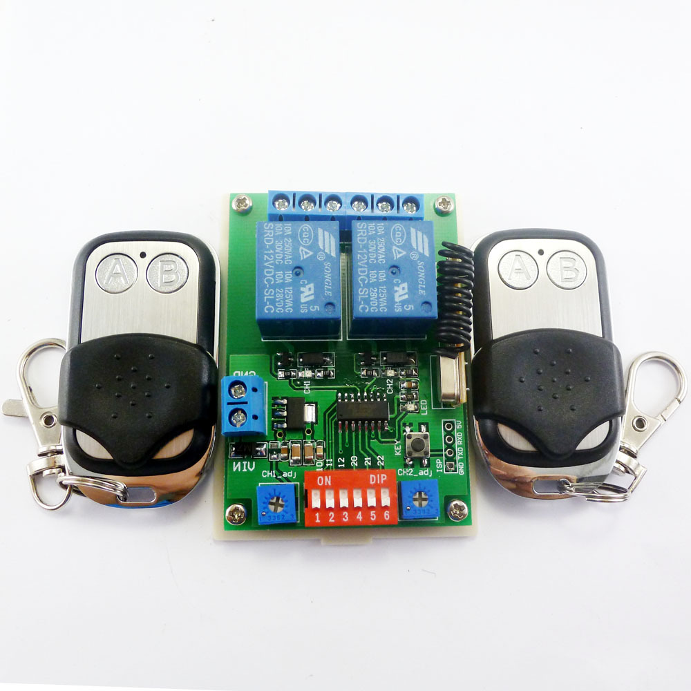 2x Ev1527 Keyfob Dc 12v 2ch Rf Timer Delay Relay Remote Switch For 12 Volt 15 Second Circuit Smart Home Motor Led 433m In Integrated Circuits From Electronic Components Supplies