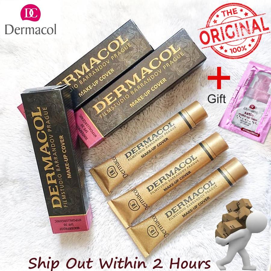 Authentic100%Dermacol Base Make up Cover 30g Primer Concealer Base Professional Face Dermacol Makeup Foundation Contour Palette