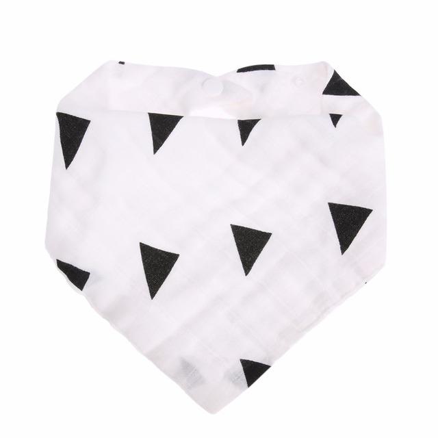 Printed Black and White Saliva Scarf