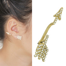 Vogue of new fund 2015 with an arrow ear clip popular alloy earrings