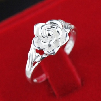Sterling Silver Rose design Ring  3
