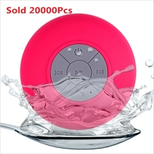 Portable Mini Water Resistant BTS-06 mini portable Shower Bluetooth Speaker Support Hands-free Calls for mobile phone packed