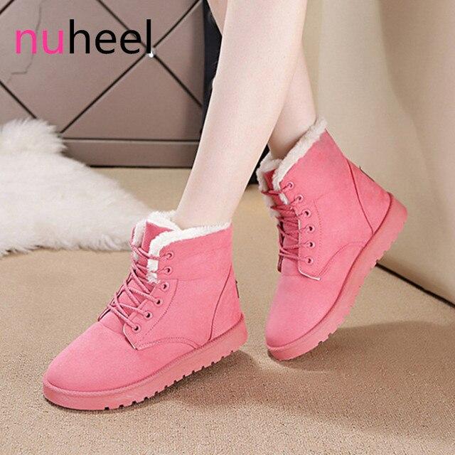 Новый nuheel класс школьные туфли женские ботильоны зимние сапоги без  шнуровки женская обувь бежевый повседневные туфли a64e24a0159