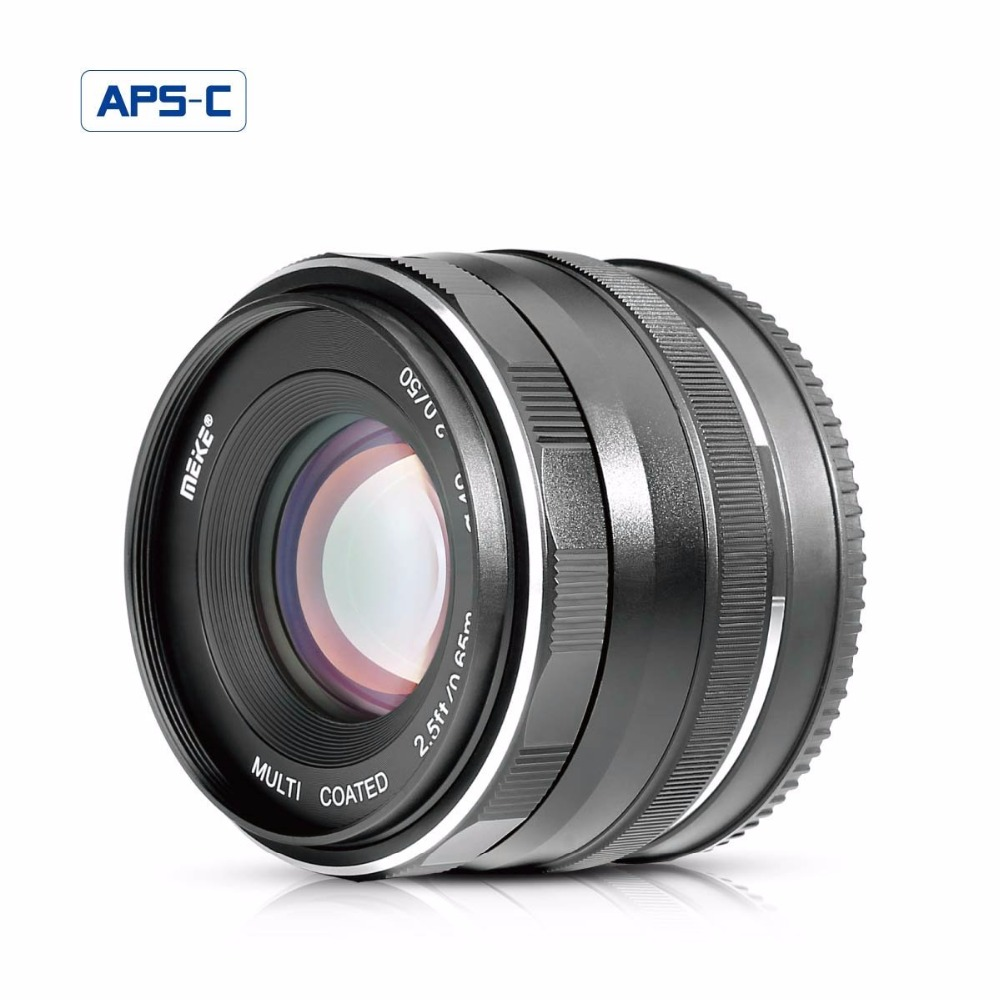 MEKE MK-E-50-2.0 50mm f/2.0Fixed Manual Focus Lens for Sony E mount Mirrorless Camera a6300/a6000/a5100/a5000/NEX7/NEX6/NEX5n/NE 35mm f 1 6 c mount lens for aps c sensor sony e nex 7 nex6 nex5t 5r 3 a5100 a6000 a5000 a3000 a6300 a6500
