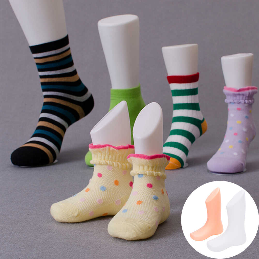 1PCS Home DIY Children Foot Display Mold Socks Shoes Mannequin Modeling Feet Short Stocking Supplies Accessories 2Colors