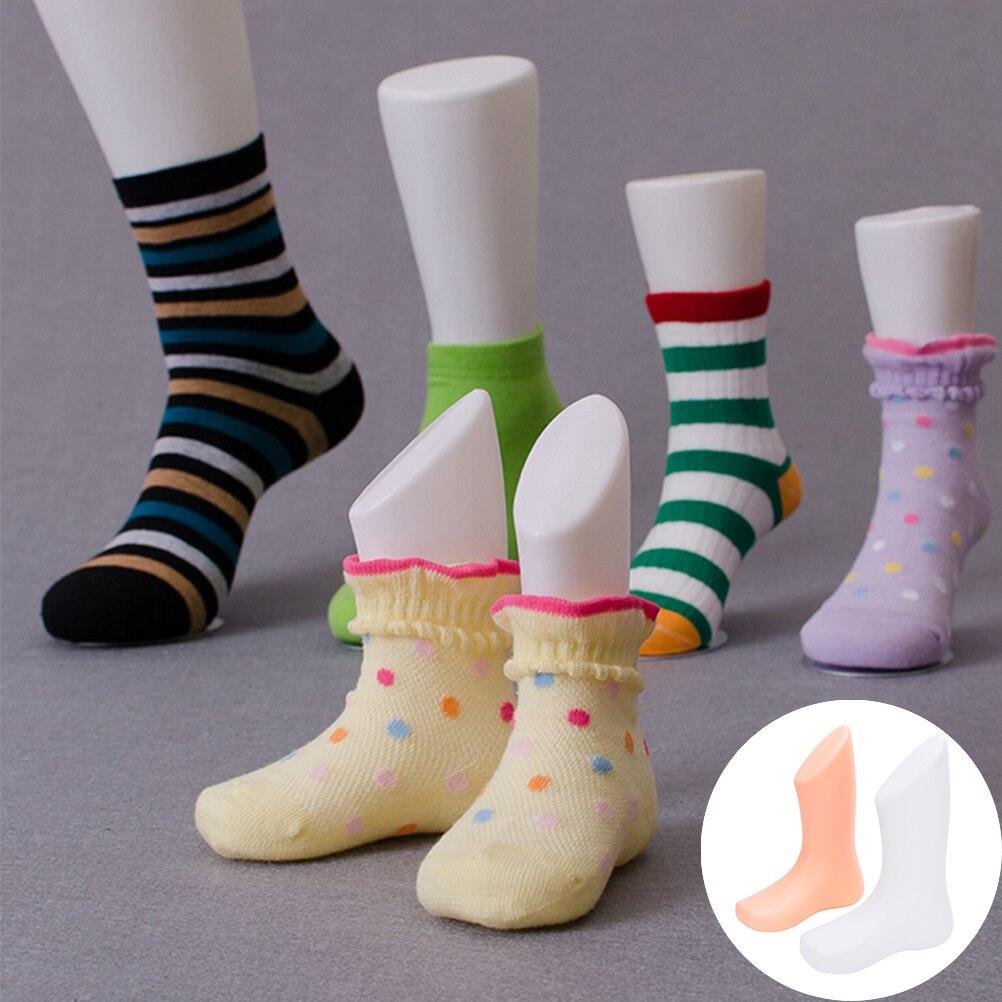 2PCS Female Foot Sock Sox Display Mold Short Stocking Mannequin White  BEST