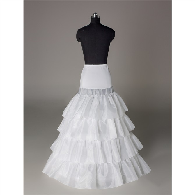 Brand New White Petticoats 2 Hoop 2 Layers Long Plus Underskirt Crinoline For Bride Formal Dress In Stock Wedding Accessories Fancy Colours Weddings & Events Petticoats