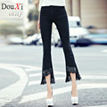 spring new Skinny women jeans High Waist Flare Pants flash Tassel edition female jeans minutes of pants
