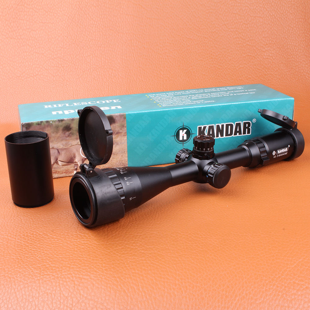 KANDAR 3-9X40AOE Hunting Riflescope RGB Illuminated Mil-dot Wire Reticle Tactical Optical Sights with Rings For Rifle Airsoft спот lussole lgo lsp 0051