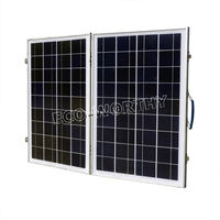only EU 50W Foldable Folding 18V Poly Solar power Panel Portable Complete Kit for 12V charger battery solar cells system